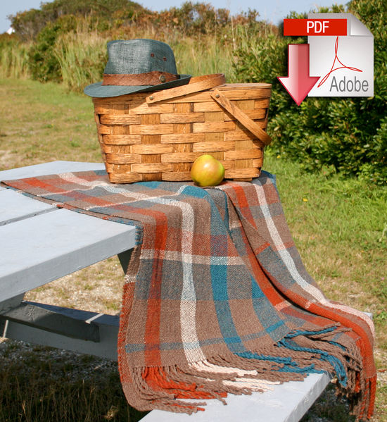 Weaving Patterns Woven Fall Picnic Blanket- Pattern download
