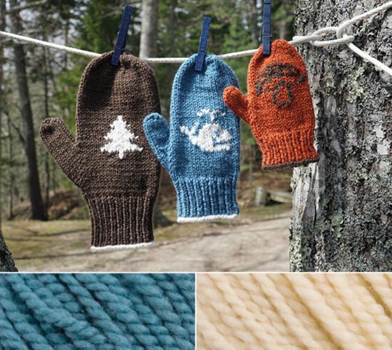 Knitting Kits Pemaquid Mitt Kit - Blue Jay