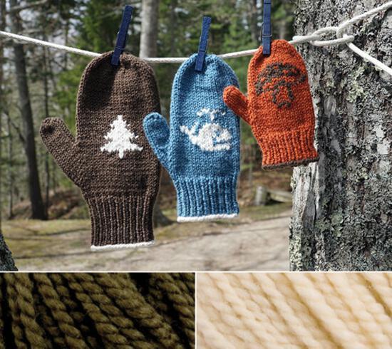 Knitting Kits Pemaquid Mitt Kit - Loden