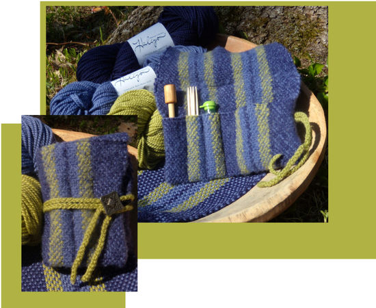 Weaving Patterns Felted Accessory Clutch - Botanica