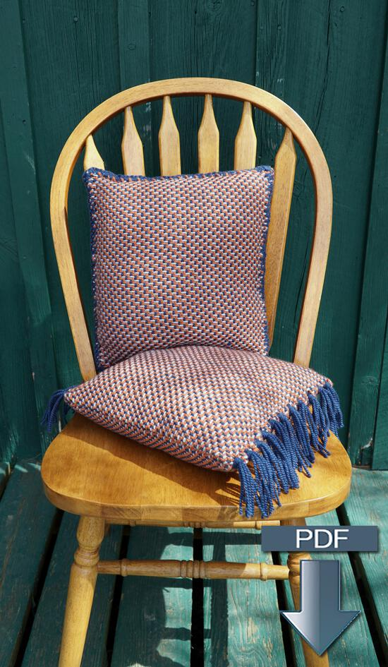 Weaving Patterns Vacationland Woven Pillows - Pattern Download