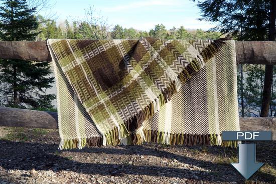 Weaving Patterns Chickadee Woven Blanket - Pattern Download
