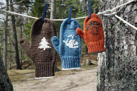 Knitting Patterns Pemaquid Mitts