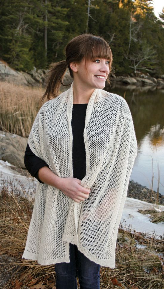Knitting Patterns Heirloom Lace Cashmere Wrap - Pattern Download