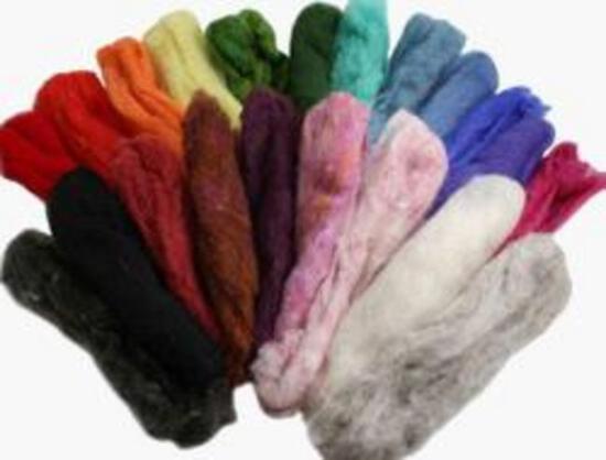 Multi-Craft Kits Felting Fiber: Peace Fleece Rainbow Pack