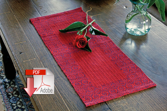 Weaving Patterns Ruby Overshot Runner - Cottolin - Pattern download