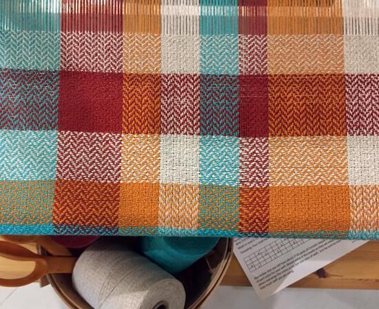Weaving Kits Organic Cottolin (Cotolin) Tea Towel Kit Santa Fe Number 9 - SALE!
