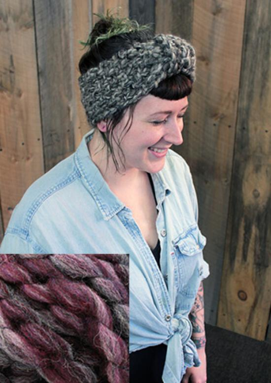 Knitting Kits Head On Earwarmer Kit - Blackberry Tart