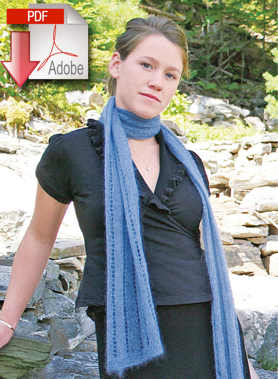 Knitting Patterns Romantic Silk and Mohair Scarf - Lace Weight Mohair/Silk Blend - Pattern download