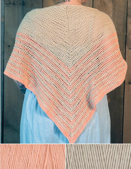 Crochet Kits Waiting Room Crocheted Shawl Kit - Peach