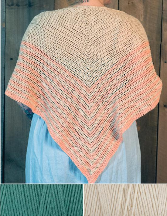 Crochet Kits Waiting Room Crocheted Shawl Kit - Duck