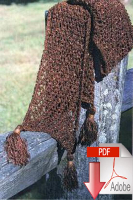 Knitting Patterns Chainette Scarf Pattern - Pattern download