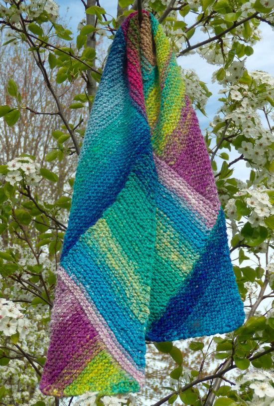 Knitting Patterns Multi-Directional Scarf - Noro Taiyo