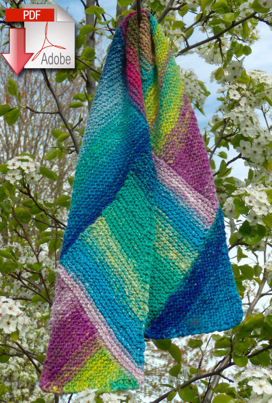 Knitting Patterns Multi-Directional Scarf - Noro Taiyo - Pattern download
