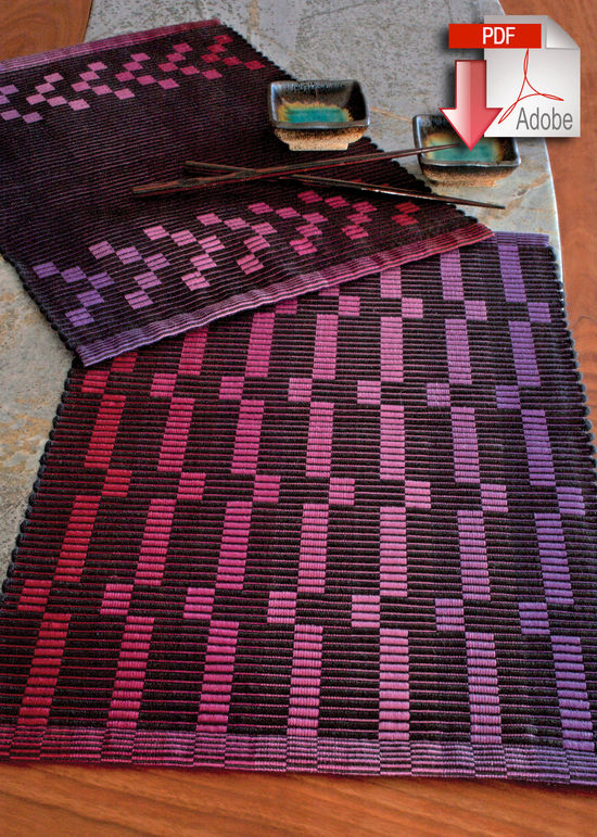 Weaving Patterns Rep Weave Placemat Pattern - 10/2 Pearl Cotton - Pattern download