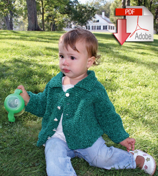 Knitting Patterns Ellen's Favorite Baby Present - Casco Bay Chenille Worsted - Pattern download