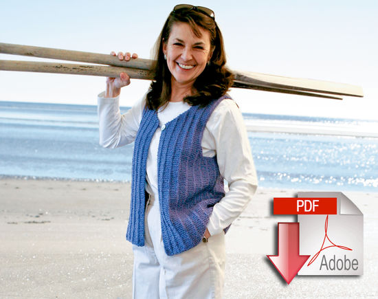 Knitting Patterns Vaill Island Vest Pattern - Casco Bay Worsted - Pattern download
