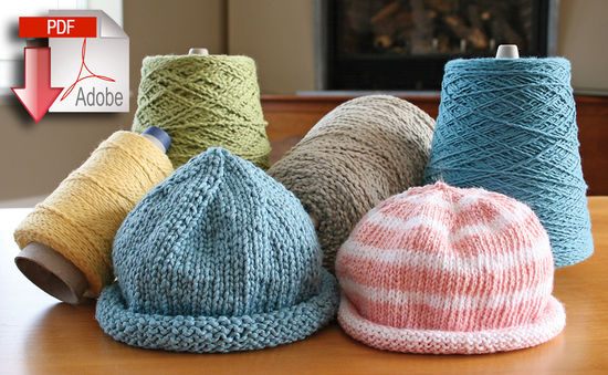 Knitting Patterns Casco Bay Baby Roll Brim Hats - Pattern download