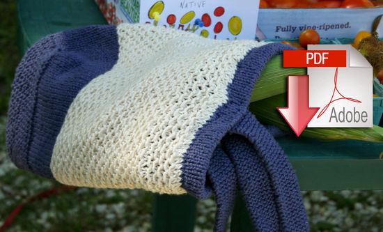 Knitting Patterns Casco Bay Tote - Casco Bay Worsted - Pattern download