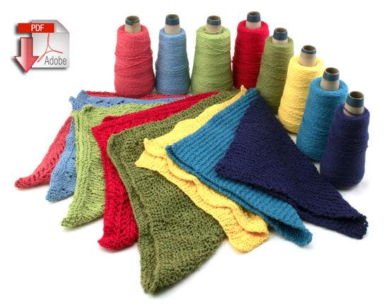 Knitting Patterns Washcloths / Dishcloths - Casco Bay Sport Cotton  - Pattern download