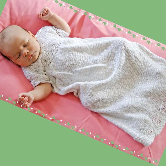Knitting Patterns Christening Gown - Block Island Blend