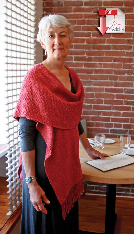 Weaving Patterns Woven Cowl Wrap - Block Island Blend - Pattern download