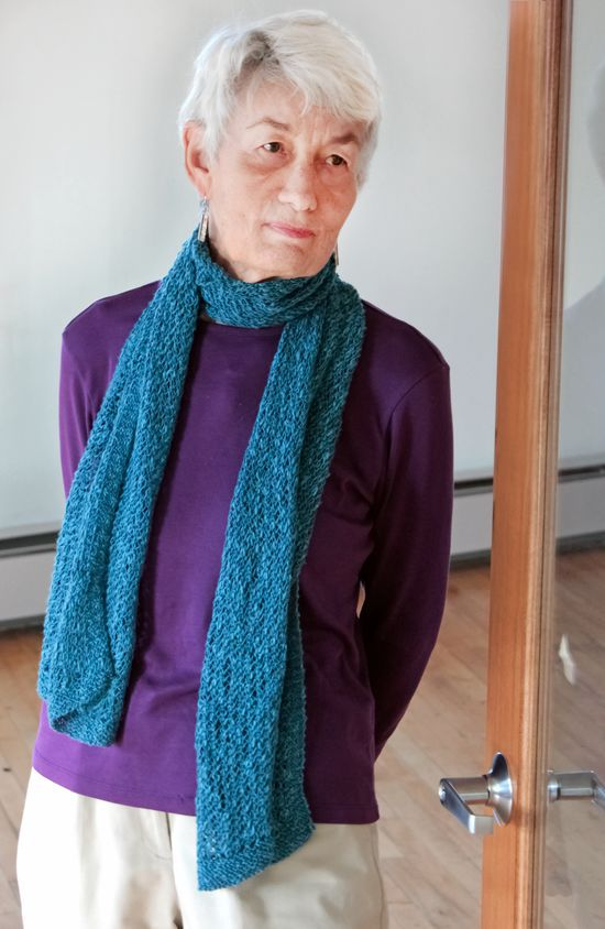 Knitting Patterns Heirloom Lace Scarf in Signature Block Island Blend - Pattern Download