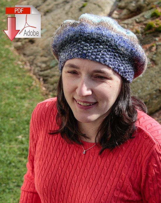 Knitting Patterns Relaxed Beret - Bulky Weight - Pattern download