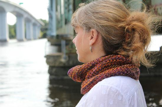 Knitting Patterns Broken Rib Cowl (Ravelry)