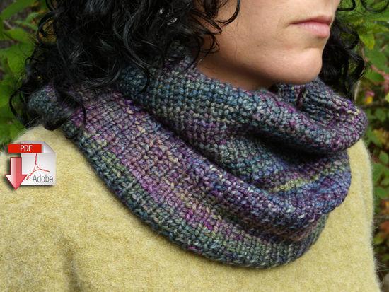 Knitting Patterns Cowl Two Ways - Pattern download