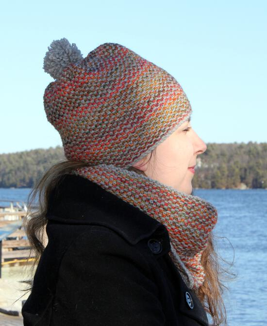Knitting Patterns Telephone Line Set - Hat and Scarf Pattern