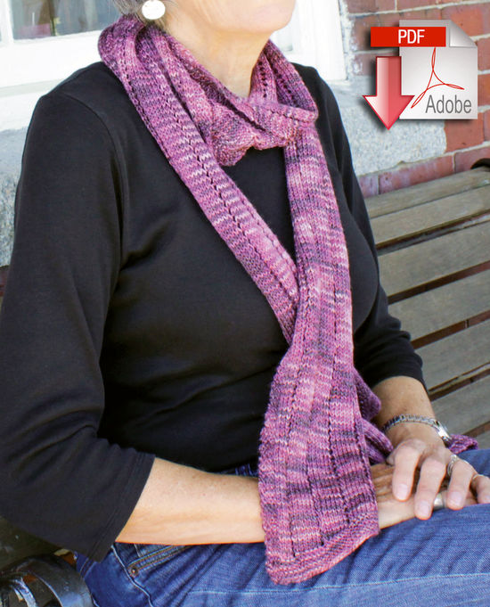 Knitting Patterns Climbing Eyelets Scarf - Lace Mohair/Silk - Pattern download
