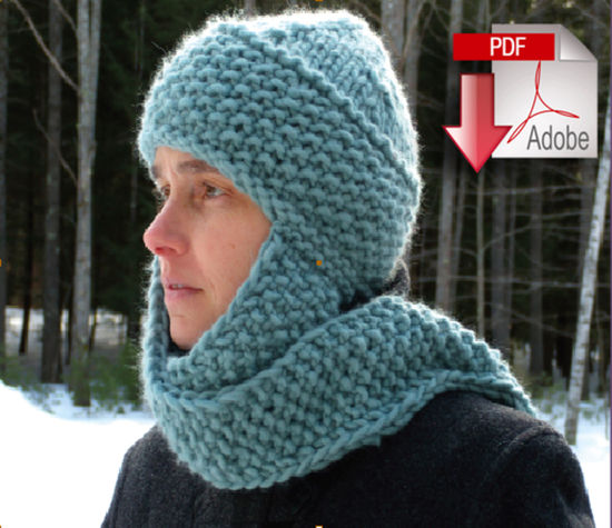 Knitting Patterns The Cuddler - Super Bulky Weight - Pattern download