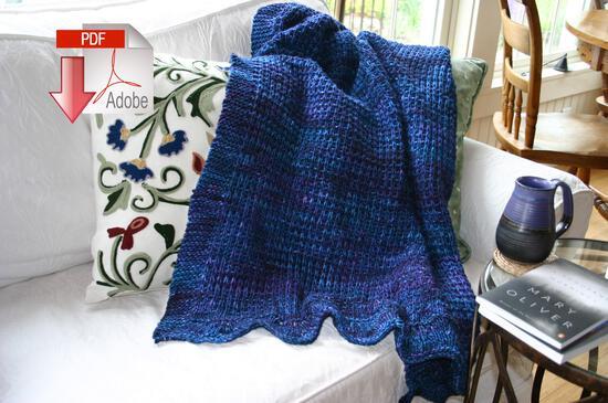 Knitting Patterns Family Favorite Throw - Pattern Download