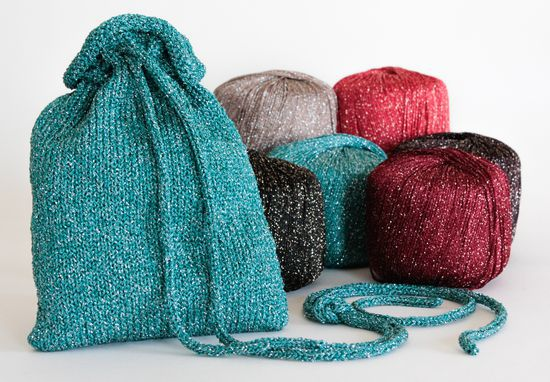 Knitting Patterns A Bit of Sparkle Evening Bag - Pattern Download
