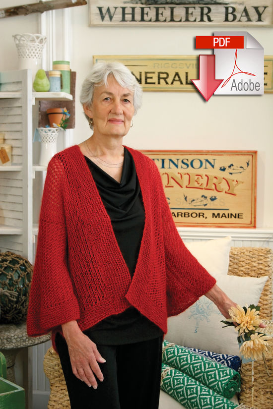 Knitting Patterns Honeycomb Kimono - Pattern download