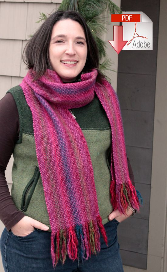 Weaving Patterns Chill Chaser Woven Scarf - Pattern Download