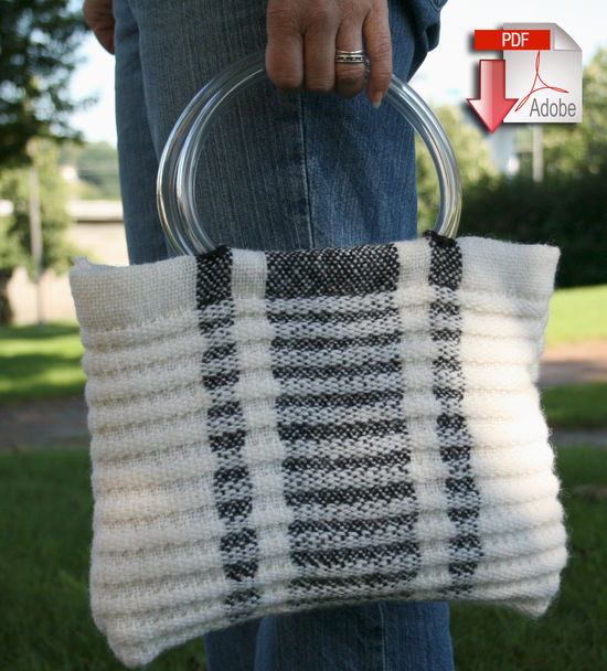 Weaving Patterns Metro Bag - Victorian 2-Ply and Classic Rug Wool - Pattern download