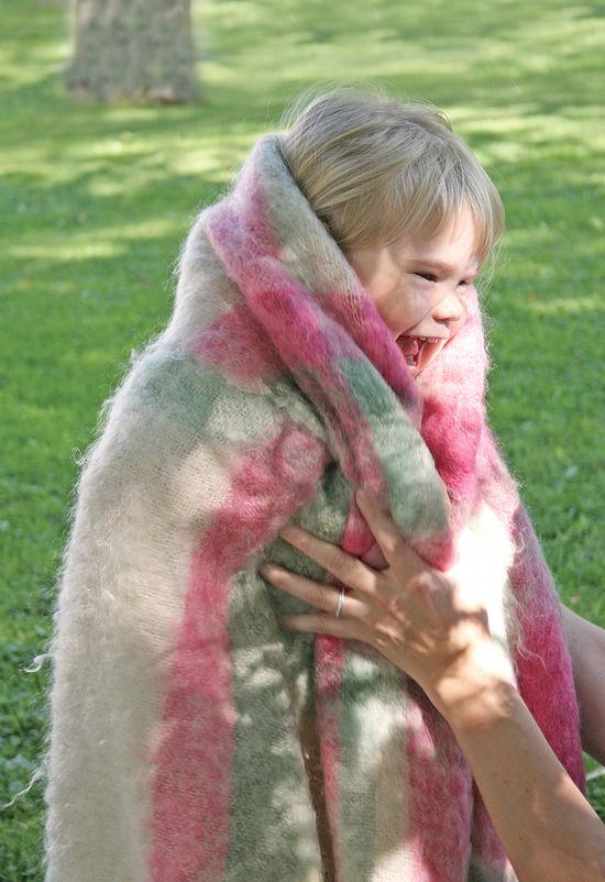 Weaving Patterns Victorian Boucle Spring Garden Woven Blanket