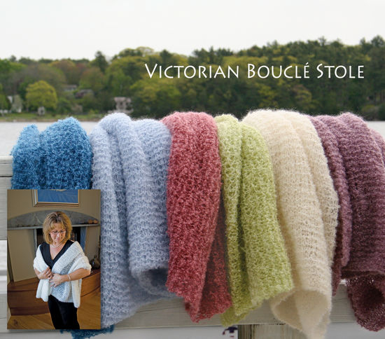 Knitting Patterns Victorian Boucle Stole