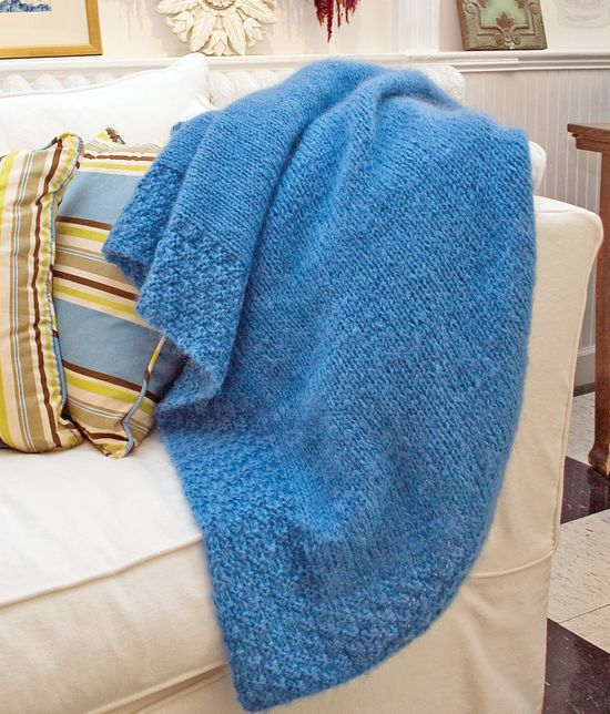 Knitting Patterns Lush Victorian Mohair Throw - Victorian 2-Ply and Mohair