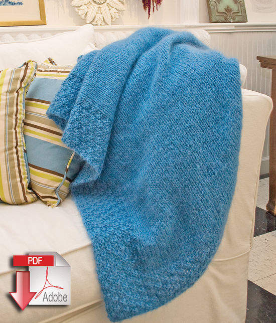 Knitting Patterns Lush Victorian Mohair Throw - Victorian 2-Ply and Mohair - Pattern download