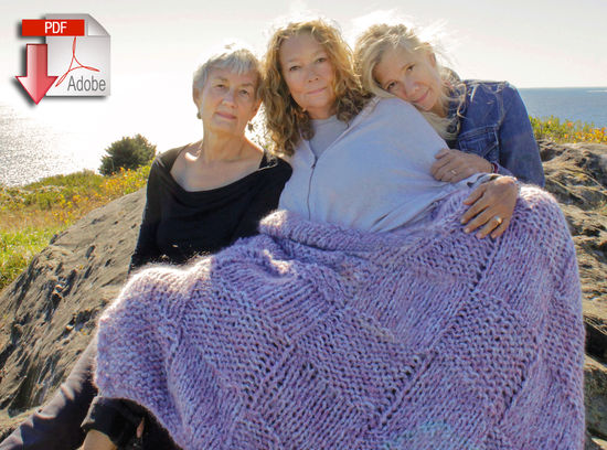 Knitting Patterns Cobble Stone Cove Throw - Seguin Collection - Pattern download