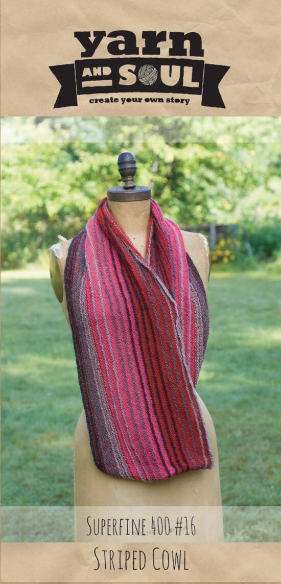 Knitting Patterns Striped Cowl Pattern by Yarn and Soul