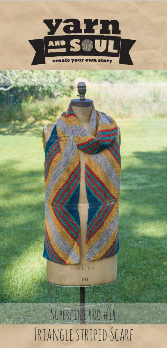Knitting Patterns Triangle Striped Scarf Pattern by Yarn and Soul
