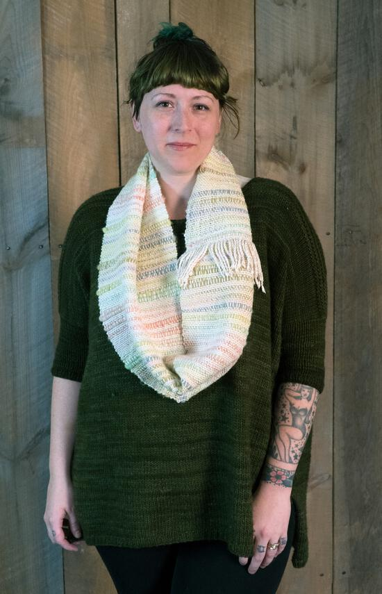 Weaving Patterns Both Sides Now - Woven Cowl