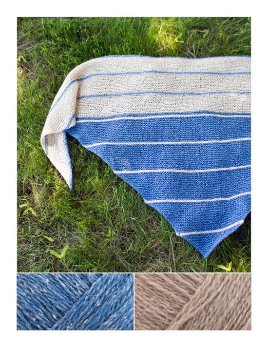 Knitting Kits Under the Boardwalk Knitted Shawl Kit - Cornflower