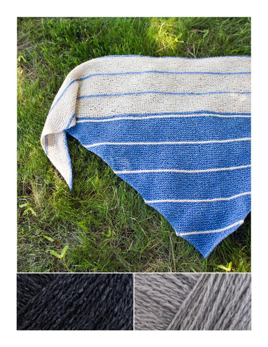 Knitting Kits Under the Boardwalk Knitted Shawl Kit - Caviar