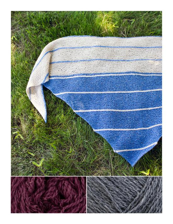Knitting Kits Under the Boardwalk Knitted Shawl Kit - Amethyst