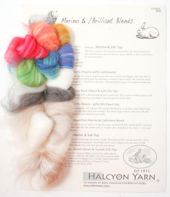 Multi-Craft Equipment Brilliant Blends - Extra Soft Spinning and Felting Fiber Blends - Sample Card